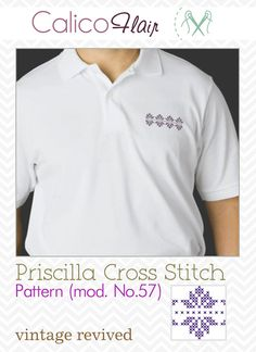 Priscilla Cross Stitch Border 57