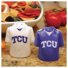 TCU Texas Christian Salt and Pepper Shakers Ceramic Set