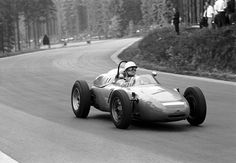 1962 Spa Carel Godin de Beaufort on his way to seventh place in a privately entered Porsche 718