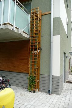 CAT -LADDERS: this would save room in a cat run or even in the house. It's perfect for a trellis if bet safe plants are used.