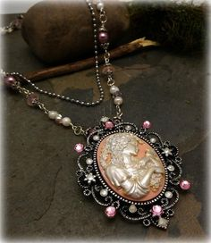 Elegant 2 tier Goddess Cameo Necklace by WiseWomanCollective, $29.99