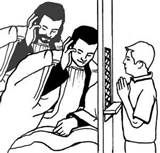 Sacrament of First Confession / Reconciliation / Penance Free Coloring Page.