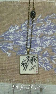 Sumi-e libellule e bamboo #fimo #polymerclay #dragonfly #bamboo #sumie #japan #art