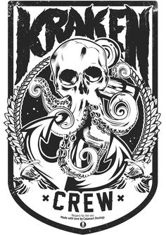 KRAKEN #skull #ink #kraken #octopus #illustration #draw