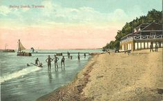 Balmy Beach Beaches, Toronto, Community, Queen, Street, Painting, Vintage, Show Queen, Painting Art