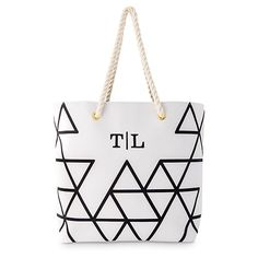 Geo Prism Tote - Black on White