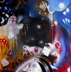 """Saatchi Art Artist Cherie Roe Dirksen; Painting, """"Dancing in the Void — Rock Art Series (Pink Floyd)"""" #art"""