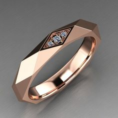 Faceted Wedding Ring with printable model Mens Ring Designs, Gold Ring Designs, Solitaire Ring Designs, Engagement Rings Couple, Couple Rings Gold, Oval Engagement, Engagement Photos, Couple Ring Design, Ring Design For Man