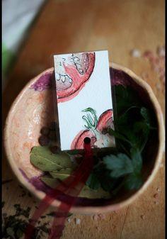 Paper & Card – Don Pomodoro – Handmade bookmark – a unique product by virydi_art on DaWanda