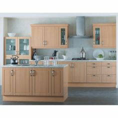 Kitchen compare retailers beech shaker for Beech kitchen wall cupboards