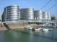 Duisburg, Innenhafen, Five Boats ( fünfschiffiger Bürokomplex )
