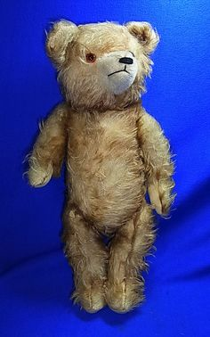Beautiful Vintage German Hermann Teddy Bear Stuffed Animal 2of2 Wood Wool #^D