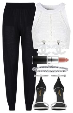"""""""."""" by queenme10 ❤ liked on Polyvore featuring STELLA McCARTNEY, Yves Saint Laurent, Glamorous, BERRICLE, MAC Cosmetics and Chanel"""