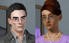 Mod The Sims - Small Round Glasses & Shades *UPDATE* Recolourable Lenses
