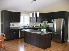 Kitchen Ideas Espresso Cabinets kitchen of the day: a transitional design with shaker espresso