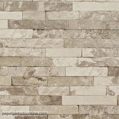 1000 images about papel pintado barato piedras y maderas for Papel imitacion piedra barato