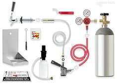 Premium - Door Kegerator Conversion Kit - RCK-SG: Kegerator conversion kit information and guidance for turning a refrigerator into beer kegerator. Includes CO2 tank, cleaning kit.