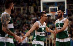 sports basketball big diamantidis,fotsis and raduljica for panathinaikos