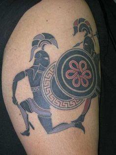 Greek Battle Tattoo