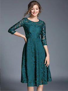 d75ab4adb7 Casual Frocks · Buy Vintage Dresses Midi Dresses For Women from YZL Studio  at Stylewe. Online Shopping Stylewe