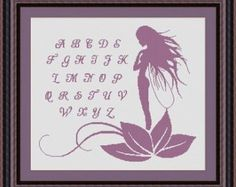 FAIRY ALPHABET/ fee - Counted cross stitch pattern /grille point de croix,Cross Stitch PDF, Instant download , free shipping