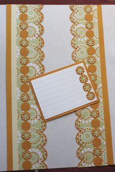 Cabana paper, with scallop stitch and frame chain. I used the punch outs from the twinkle cartridge in the centers of the frames #scrapbook #borders #CM http://www.creativememories.com/user/chinohills