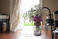 mason jar, burlap accent, babys breath, aisle decor, aisle decoration, wedding decoration, wedding flowers, wedding jar, archers hook,