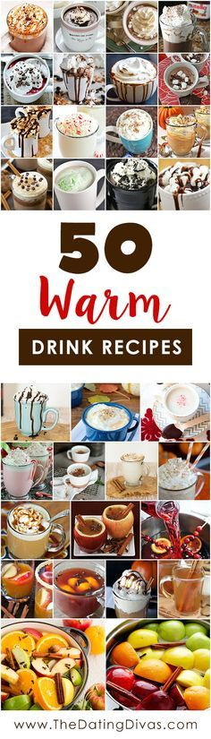 Delicious Warm Drink Recipes! Cozy Cocoa, Cider, and Steamer recipes for chilly days. http://www.TheDatingDivas.com