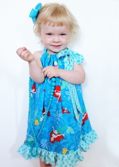 this tutorial showed how easy it was to make a pillow case dress like this
