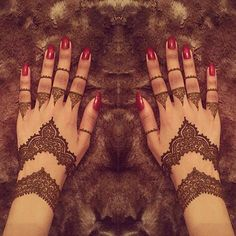 Bridal Mehendi Designs - Blank Fingertips