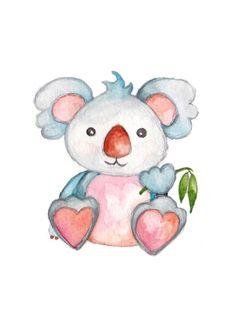 Children's Art Koala Bear Painting Koala by BrilliantCritter
