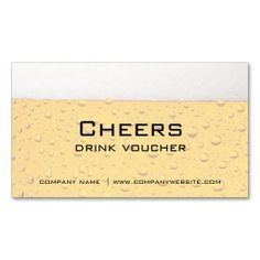 Bar, Restaurant or Brewery Drink Vouchers Business Card Templates. Make your own business card with this great design. All you need is to add your info to this template. Click the image to try it out!