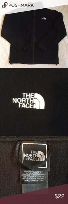 Men's North face fleece pullover jacket Soft and cozy, this fleece pullover is great for fall and winter! Zip up front and pockets! In great used condition. The North Face Jackets & Coats