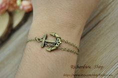 Bronze anchor cuff braceletRetro chain by Richardwu on Etsy, $1.50