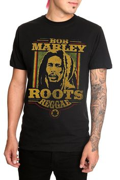 BOB MARLEY ROOTS REGGAE STAR T-SHIRT
