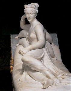 """Antonio Canova (1757-1822)  """"Paolina Bonaparte come Venere Vincitrice"""" 1804-08 Roma, Galleria Borghese"""
