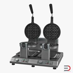 3D Commercial Waffle Maker Double Heads model
