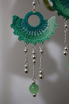 I started these crocheted earrings early last week but I didn't have the beads to finish them until Thursday. I wanted to make them with a ...