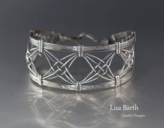 In this tutorial we will create a beautiful and unique bracelet with an open weave that is balanced with a textured wire that frames the weave. This bracelet is equally beautiful in copper or sterling, but for this tutorial, I'll be using sterling wire. We'll also be using a jig that