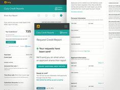Cozy credit reports UI