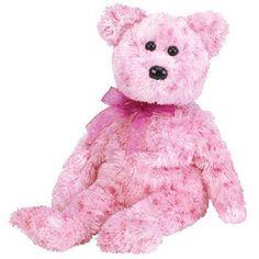 29a5651322c Smitten Retired 2002 Ty Beanie Babie Romantic 8in Pink Bear 3up Boys Girls  4577