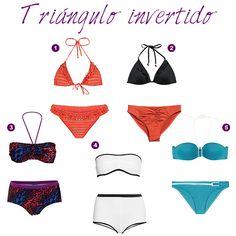 Inverted Triangle Outfits, Inverted Triangle Body, Triangle Body Shape, Capsule Wardrobe Women, Fashion Capsule, V Shape Body, Apple Shape Outfits, Triangle Bikini, Body Types