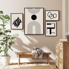 Abstract Wall Art, Collection 2 - 13x18cm / B