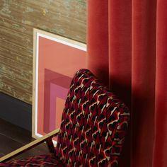 VELOURS CERAME — Nobilis Cotton Velvet, Repeating Patterns, Fancy, Retro, Prints, Blind, Design, Space, Lush