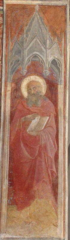 Lorenzo Monaco - San Giovanni Evangelista - affresco - 1420-1424 - Arcone - Cappella Bartolini Salimbeni - Firenze, Basilica della S. Trinità