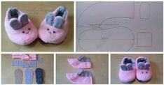 Free Pattern for baby slippers. Baby Sandals, Baby Booties, Baby Shoes, Felt Crafts Diy, Diy Crafts For Kids, Diy Bebe, Baby Hamper, Baby Slippers, Shoe Pattern