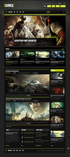 100+ Gaming Website Templates | Pinterest | Portal, Wordpress and ...