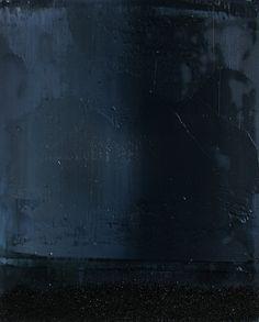 "Koen Lybaert; Oil 2013 Painting ""abstract N° 744 [Coal dust IV]"""