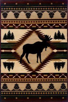 United Weavers Designer Contours - John Q Moose Wilderness Rugs   Rugs Direct