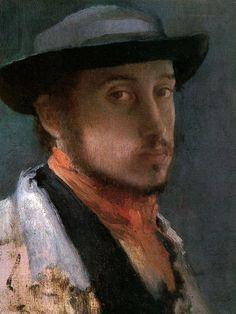 Self Portrait in A Soft Hat by Edgar Degas